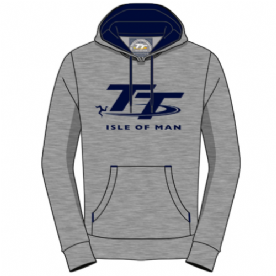 Isle of Man Grey/Navy TT Hoodie